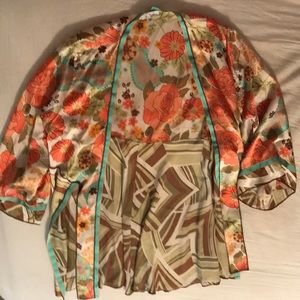 CAbi Floral Kimono